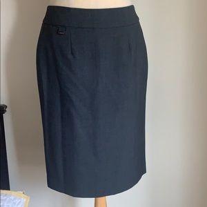 Dark Gray Calvin Klein Pencil Skirt